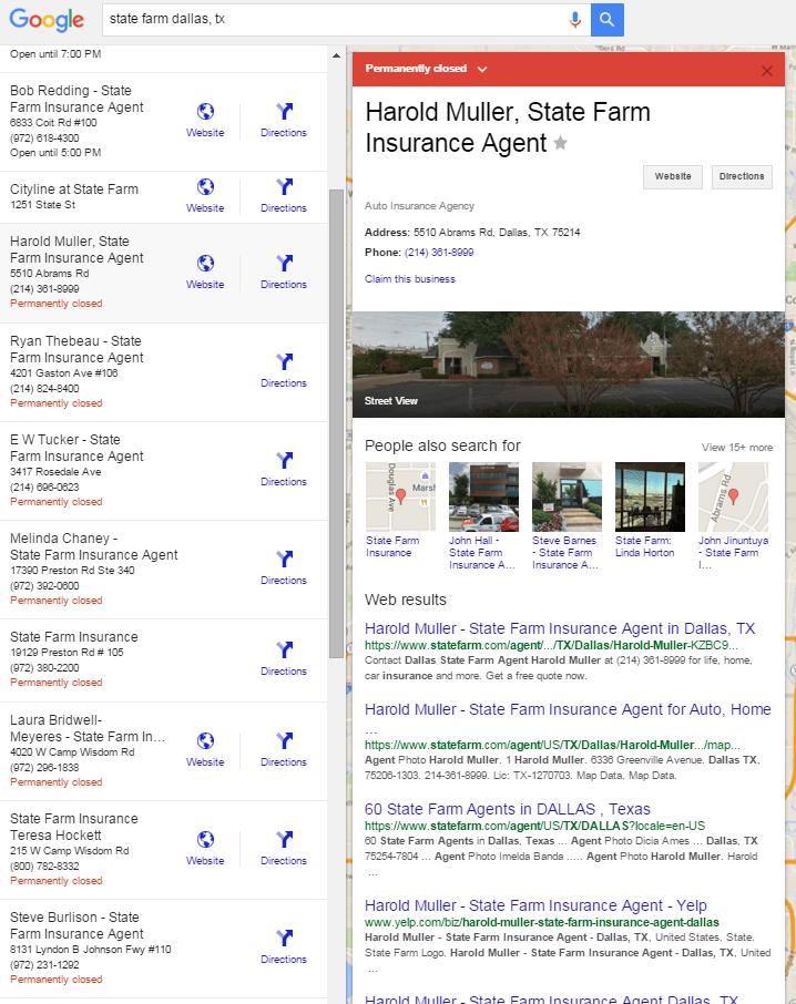 state farm dallas tx Búsqueda de Google