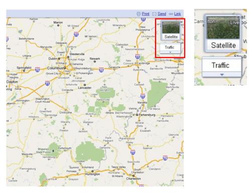 Google prueba una nueva apariencia para vistas de mapas