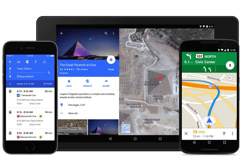 Nueva aplicación de mapas de Google