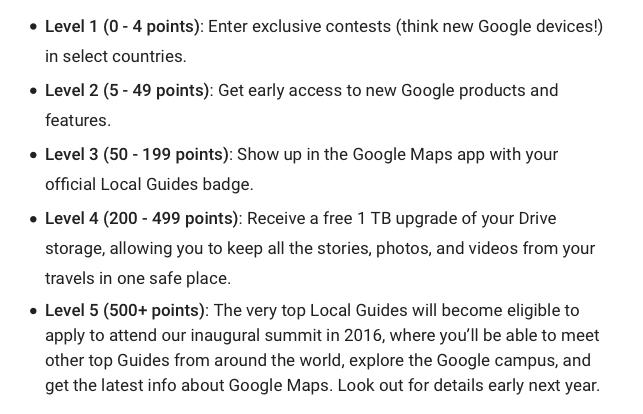 Total de puntos de guías locales