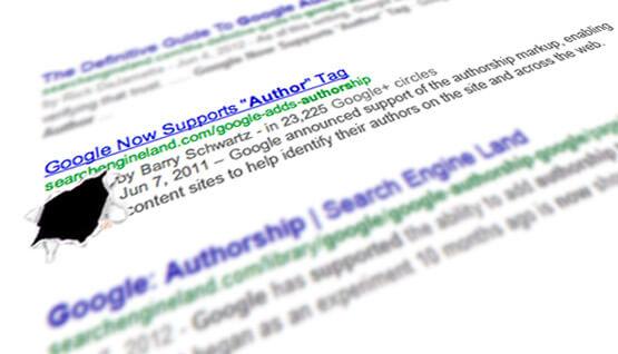 Iconos de autor de Google desaparecidos