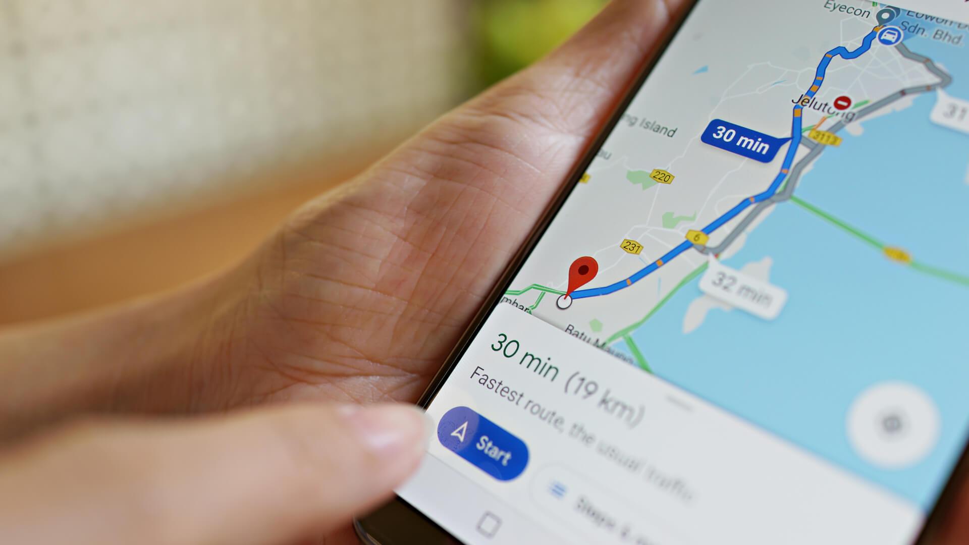 Informe de rendimiento de Google My Business que agrega solicitudes de indicaciones para conducir y visitas al sitio web