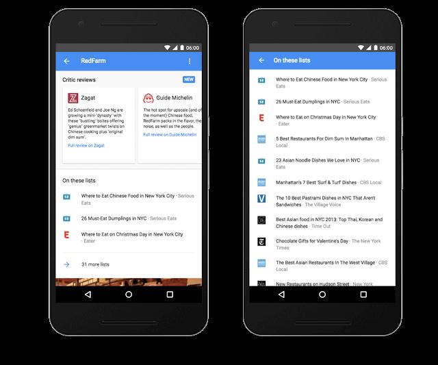 Actualizaciones de búsqueda local de la aplicación de Google