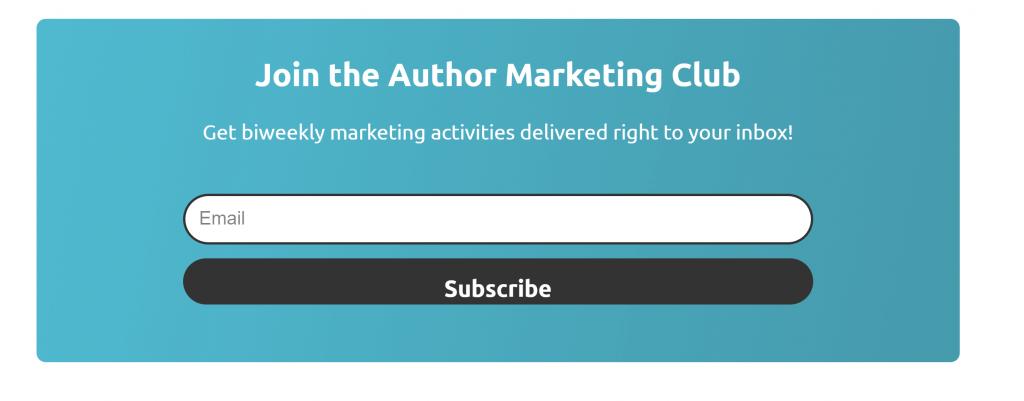 Formulario de registro del club de marketing de autores