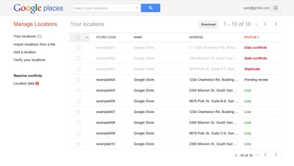 Actualización masiva de ubicaciones de Google con redes sociales mayo de 2014