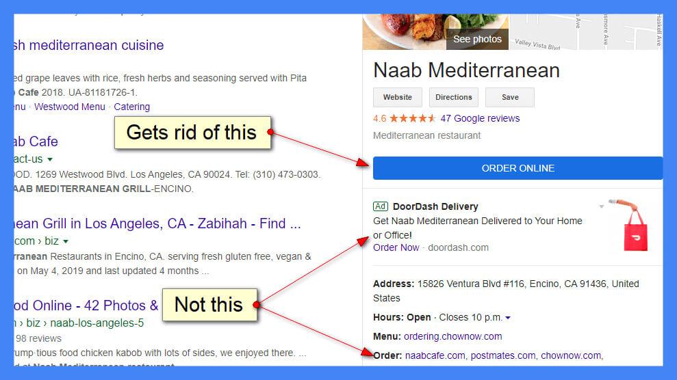 Las empresas ahora pueden optar por no recibir pedidos de alimentos en línea de Google