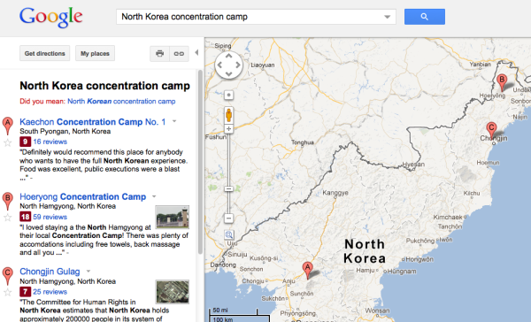 Gulags en Google Maps