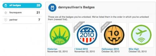 Los usuarios de Foursquare obtienen una vitrina de trofeos e insignias de socio