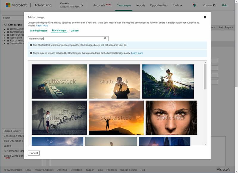 Microsoft Advertising ofrece imágenes de archivo gratuitas para anuncios de audiencia