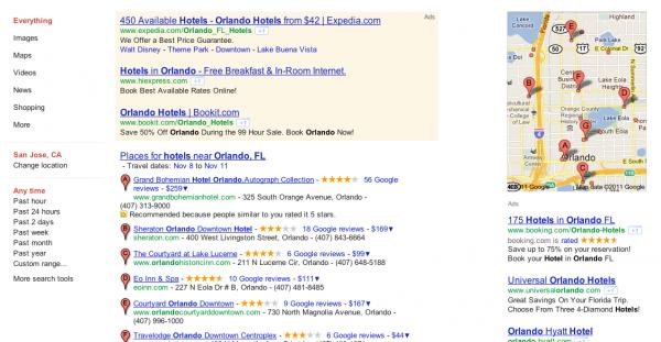 Nueva apariencia para los resultados de Places en Google.com