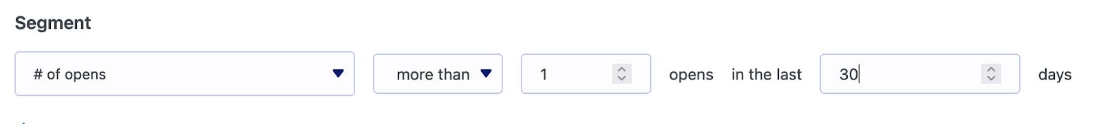 Segmentar por número de correo electrónico se abre en MailPoet