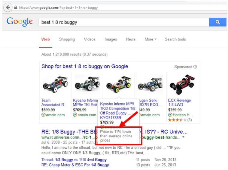 porcentaje de descuento promoción texto anuncios de listado de productos de google