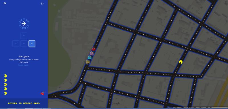 Pantalla de Google Pac-Map