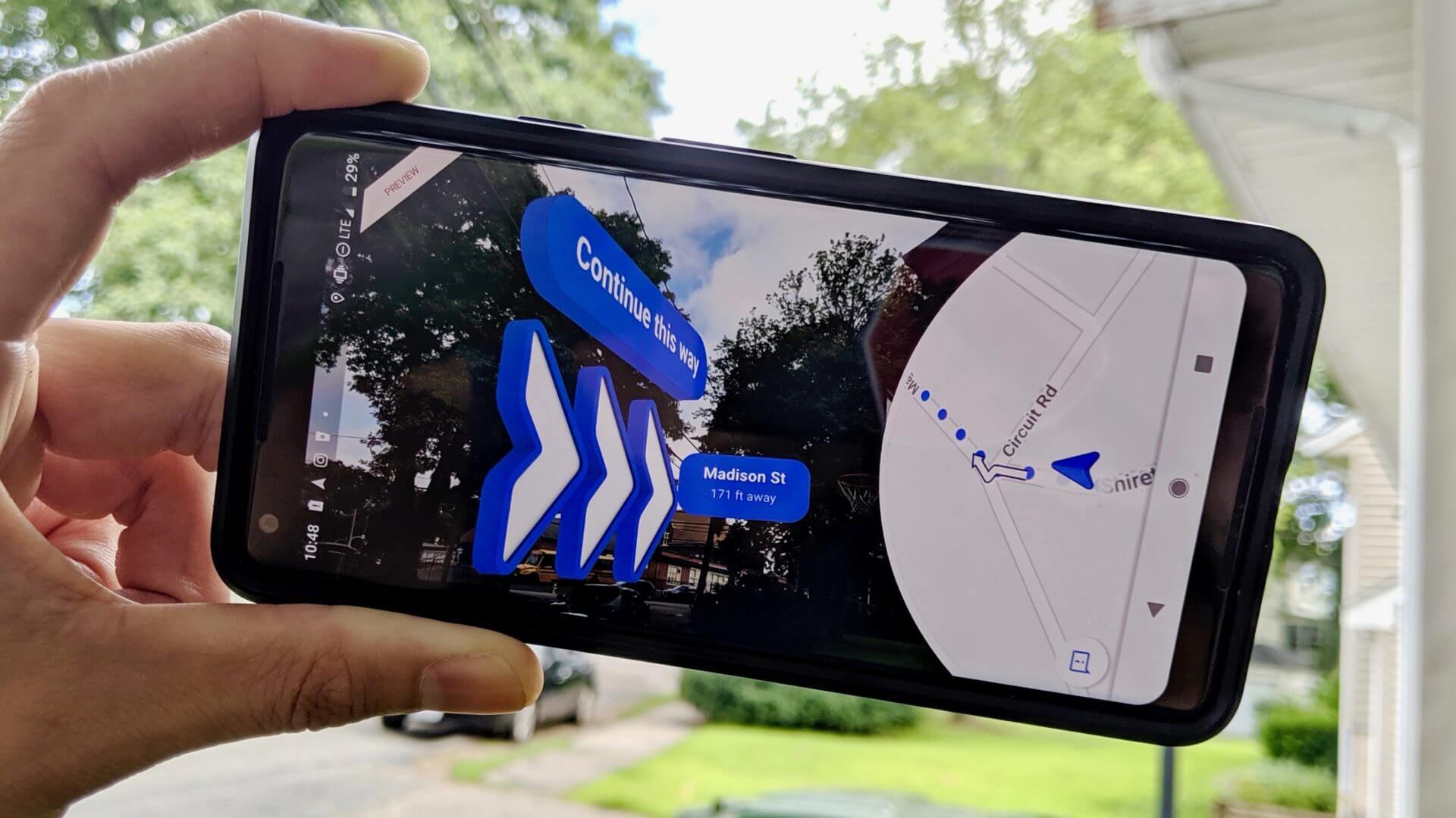 Reservas, navegación AR llegando a Google Maps