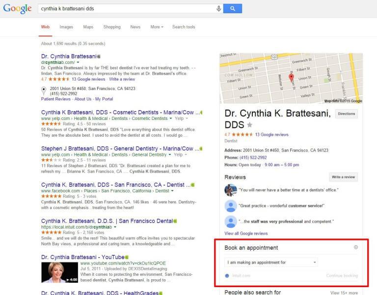 reserva de citas online resultados de búsqueda de google