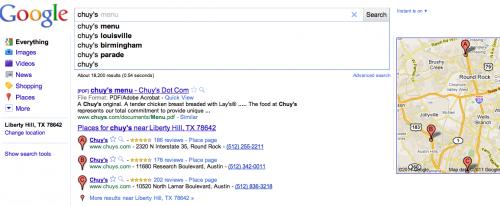 Revise que el rencor de los sitios aumenta con la prominencia de las páginas de lugares de Google