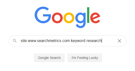 búsqueda de sitio google