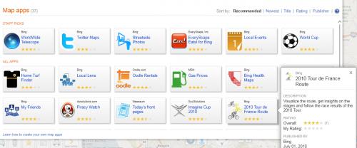 "Seguimiento de ""Le Tour"" (de France) en Bing Maps"